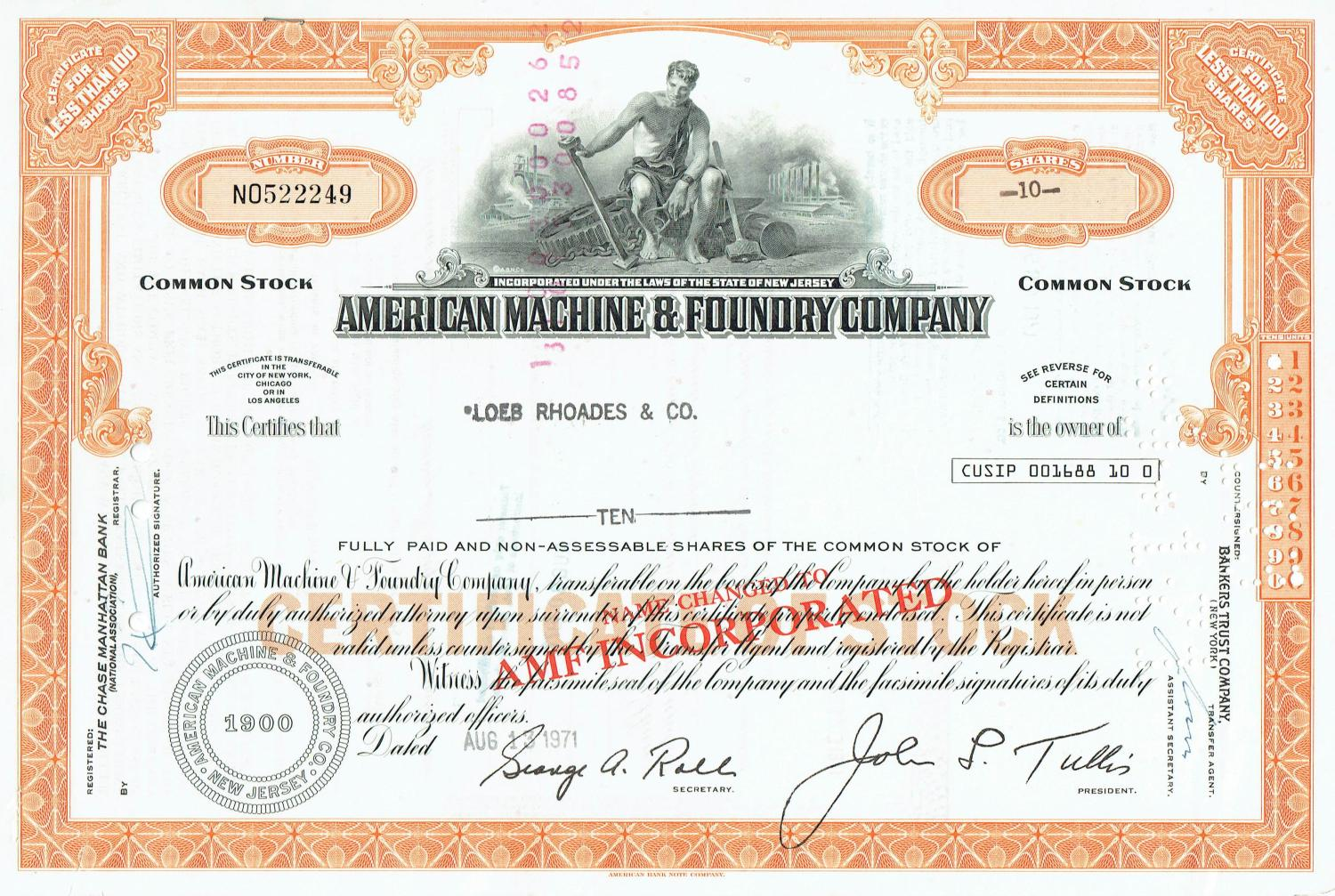 american machine and foundry company